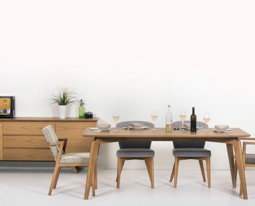 Τραπεζαρία Hubo Ξύλινο Καρέκλες 3